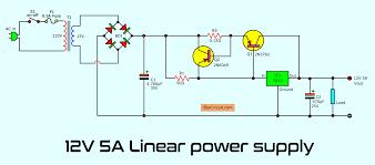 5v And 12v Power Supply Design Simple Designing 12v 5a Linear Power Supply Eleccircuit Com
