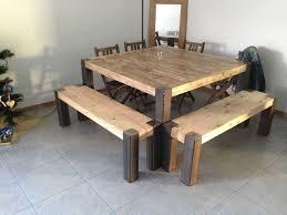 table en lattes de palettes upcycled pallet planks table 1001 pallets