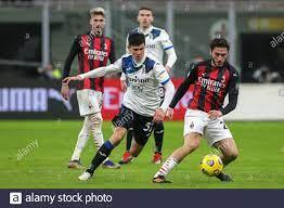MILAN, ITALY - JANUARY 23: Matteo Pessina of Atalanta, Pierre Kalulu of AC  Milan during the Serie A match between AC Milan and Atalanta Bergamo at Sa  Stock Photo - Alamy