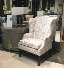 gail dresses this classic oaklawn wing chair in a fun print