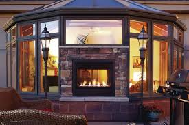 double sided gas fireplace indoor outdoor fireplace design ideas