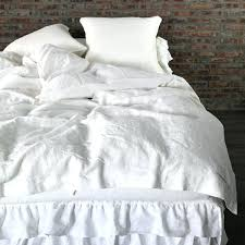 optic white duvet cover with ties closure white ruffle duvet cover twin xl ruffle duvet cover
