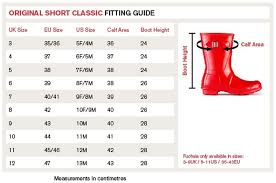 Hunter Shoe Size Chart Hunter Size Guide