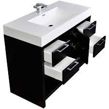 39 Bathroom Vanity 40 Inch Modern Bathroom Vanity Set In Black Tn L1000 Bk