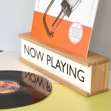 Vinyl Light Box Now Playing Wooden Light Box