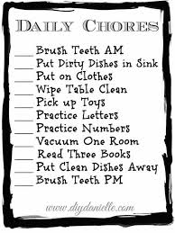 Daily Chores Checklist Toddler Chore Checklist Free Printable Diy Danielle