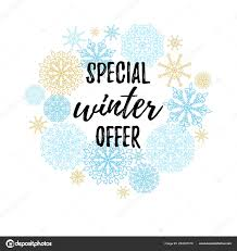 Calligraphy Backgrounds Special Winter Offer Label Banner Sticker Vector Winter