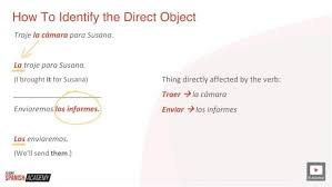 Spanish Direct Object Pronouns Explained I Will Teach You
