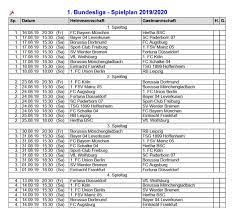 Neben dem bundesligaspielplan gehört auch der. Bundesliga Spielplan Download Freeware De