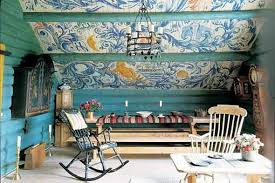 traditional scandinavian furniture. Scandinavian Attic Room With Hand-painted Ceiling And Furniture. Traditional Furniture I