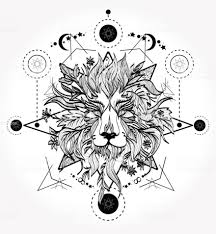 идеи тату льва на ногах руках груди спине
