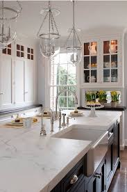 Kitchen Island Countertop. Kitchen Island Is A 2 Inches Thick Slab Of  Carrera Marble.
