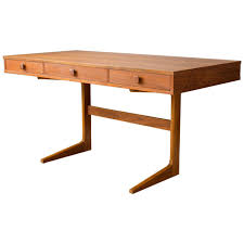 Danish Modern Teak Cantilever Desk by Georg Petersens Mobelfabrik For Sale
