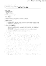 Sample Financial Service Consultant Resume Service Advisor Resumes