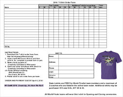 Order Form For T Shirts - East.keywesthideaways.co