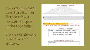 Mla Citations Quotes Using Citationmachinenet To Create In Text