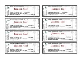 Free Printable Event Ticket Templates Standard Template Example With