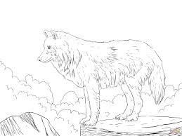Baby Wolf Coloring Page Free Printable Coloring Pages Coloring Home