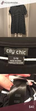City Chic Size Chart City Chic Bodycon Tshirt Dress Black And White Stripes
