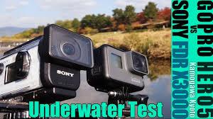 sony fdr x3000. gopro hero5 vs sony fdr x3000 underwater test sony fdr e