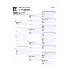 7 Generation Pedigree Chart Free 7 Generation Family Tree Template 12 Free Sample Example