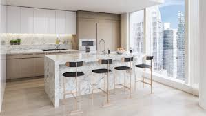 Square Kitchen Upper West Side Complex Designed By Kpf Richard Meier Rafael
