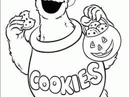 48 Cookie Monster Coloring Page Cookie Monster Cookie Jar