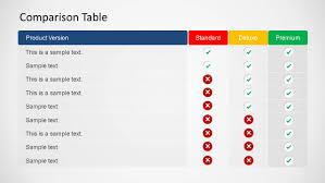 3d Comparison Table Powerpoint Template