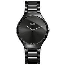 rado watches ernest jones rado true men s black ceramic bracelet watch product number 4956915