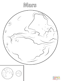 Small Picture Mars Planet coloring page Free Printable Coloring Pages
