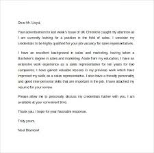 sales representative cover letter cover letter for sales rep