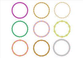 Circle Border Cute Circle Border Funky Frames Vector Download Free