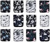 KaWaii A Set of 12 Baby Bamboo Cloth Diapers