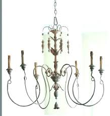 french country chandelier wooden white iron catania vintage wood