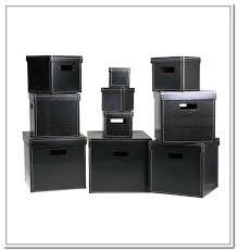 leather storage bins storage box solution faux leather storage bins