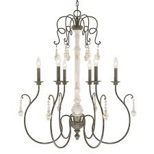 capital lighting fixture company vineyard french country six light chandelier