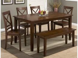 rectangle kitchen table set. Jofran SimplicityRectangle Dining Table Set With Bench Rectangle Kitchen