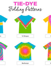 Tie Dye Folding Patterns