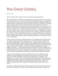 scholarly essays on the great gatsby the great gatsby critical evaluation essay enotes com