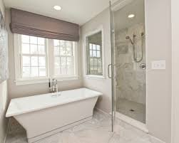 bathrooms seamless glass shower marble tiles shower surround