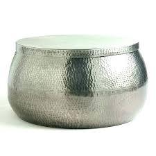 silver drum coffee table australia round