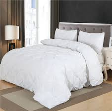 white duvet cover set pinch pleat 2 3pcs twin queen king size bedclothes bedding sets no filling no sheet in bedding sets from home garden on