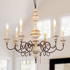 Image Beach Home Lnc 6light French Country Shabby Chic Wood Chandeliers A03371 Amazoncom Lnc 6light French Country Shabby Chic Wood Chandeliers A03371