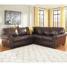 2pc laf sofa leather sectional