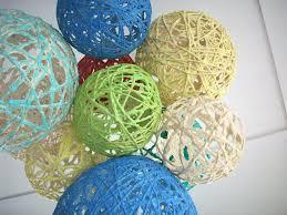 diy yarn lantern chandelier