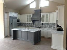 white shaker kitchen cabinets. Grey Shaker Cabinets White Kitchen Fluted Island Beach Style Discount .