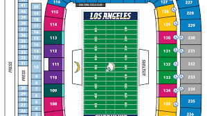 Los Angeles Chargers Seating Chart Seating Chart