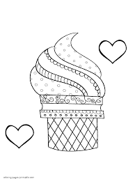 Search result for coloring pages ice cream coloring pages and worksheets, free download and free printable for kids and lots coloring pages and worksheets. Ice Cream And Hearts Printable Coloring Page Coloring Pages Printable Com