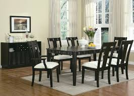 outstanding black dining room table set gorgeous interior design on black table and chairs dining room