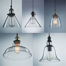 glamorous pendant light replacement shades hanging glass lamps and with designs 0